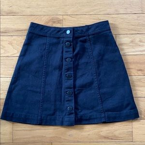 H&M Front Button Skirt